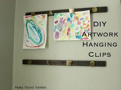 diy artwork hanging clips, crafts