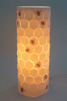 y'all know I want this thing so bad!---So in love with this Porcelain lamp with bee and honeycomb design