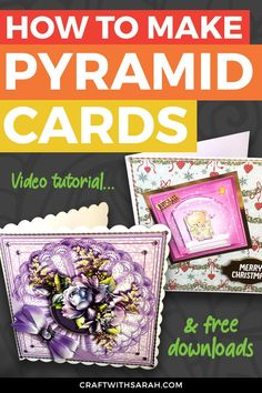 How to Make Pyramid Cards Card Making Ideas For Beginners, Card Making Tips, Card Making Tutorials, Card Making Techniques, Card Making Inspiration, Handmade Cards For Friends, Birthday Cards For Friends, Handmade Card Making, Handmade Birthday Cards