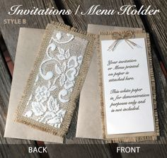 Rustic Vintage Country Wedding Invitations