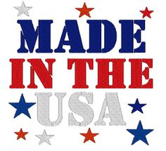 Instant Download Made in USA Embroidery by ChickpeaEmbroidery, $3.50