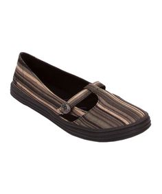 Take a look at this Black Stripe Rebel Flat on zulily today!