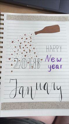bullet journal january cover
