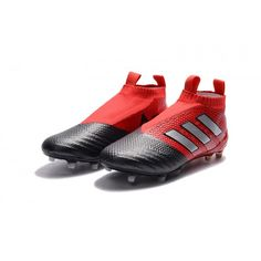 reputable site 09adf 12a35 Adidas ACE 17 PureControl FG Chaussure De Foot Rouge Blanc Noir achat en  ligne