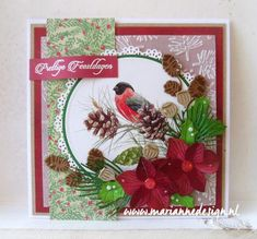 Creatables Petra's amaryllis Christmas In July, Christmas Cards, Christmas Decorations, Holiday Decor, Petra, Advent, Scrapbook Templates, Marianne Design, Winter Cards