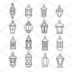 Old oi , drawing Ramadan Vintage Lantern Linear Icons. Vector Muslim Antique Lamp Symbols Stock Vector - Illustration of background, illustration: 83292828 Vintage Lanterns, Lanterns Decor, Vintage Lamps, Lantern Drawing, Ramadan Lantern, Lantern Tattoo, Farmhouse Lamps, Vintage Farmhouse, Ramadan Crafts