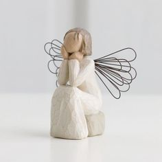 Angel of caring-always there, listening with a willing ear and an open heart. willow tree is an intimate, personal line of figurative sculptures representing qualities and sentiments that help us feel