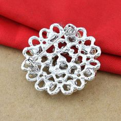 Hearts Flower Alloy Brooches (SP-XZ-60936) - China Brooches, dualshine