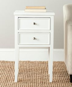 Safavieh American Home Toby End Table, White