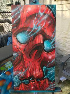 Art tattoo - Image of Eminating Skull Graffiti Drawing, Graffiti Murals, Mural Art, Art Drawings, Art Art, Cute Monsters Drawings, Skull Artwork, Skeleton Art, 1 Tattoo
