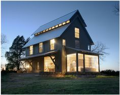 My dream house. Modern farmhouse outside of Springfield, Mo by Architect Matthew Hufft. This photo is from an article in Dwell magazine sharing the whole story.