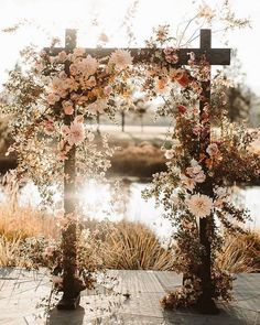 7 Wedding Arches That Will Instantly Upgrade Your Ceremony - fall flowers decorated wedding arch - Fall wedding ideas ceremony arch 7 Wedding Arches That Will Instantly Upgrade Your Ceremony Wedding Ceremony Ideas, Fall Wedding Arches, Fall Wedding Flowers, Fall Flowers, Wedding Trends, Floral Wedding, Wedding Colors, Wedding Ceremony Arch, Bohemian Wedding Flowers