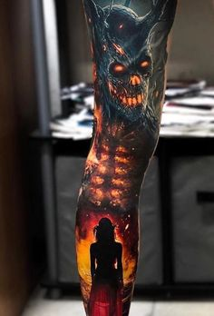 For the latest designs and Ideas stay connected and check out for the latest updates by visiting below Wicked Tattoos, Creepy Tattoos, Badass Tattoos, Tattoos For Guys, Warrior Tattoos, Viking Tattoos, Hand Tattoos, Skull Tattoos, Flame Tattoos