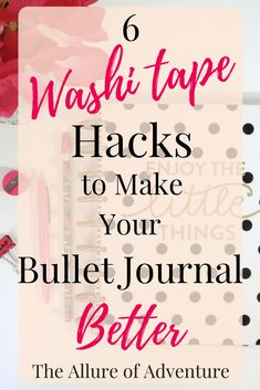 36 free printable travel journal prompts journals pinte 6 washi tape hacks to make your bullet journal better solutioingenieria Gallery