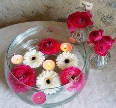 décoration florale de table mariage | Coupe ronde en verre pour centre de table de mariage - Tartifumedeco ...