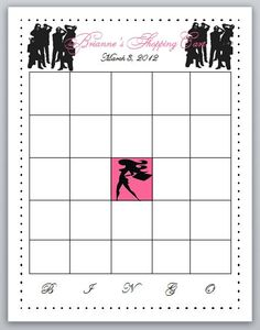 Printable Bridal Shower Bingo Game Fashionista by BellaMEvents, $5.00
