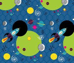 Retro Rocket Adventure fabric by vanillabeandesigns on Spoonflower - custom fabric