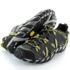 Merrell Mens Waterpro Maipo Hiking Trail Shoes Carbon / Empire Yellow: Amazon.co.uk: Shoes & Bags