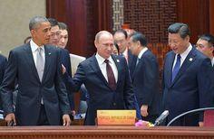 11日、北京のAPEC首脳会議場で、談笑するオバマ米大統領(左)、プーチン・ロシア大統領(中央)、習近平中国国家主席(右)(EPA=時事) ▼11Nov2014時事通信 米ロ首脳、数回接触=シリア、ウクライナなど協議-北京 http://www.jiji.com/jc/zc?k=201411/2014111100841 #Vladimir_Putin #Путин #普京 #Xi_Jinping #习近平 #Си_Цзиньпин #Barack_Obama #奥巴马 #奧巴馬 #歐巴馬 #Обама