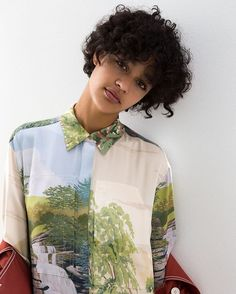 A modern camouflage. Painterly landscapes are cut and stitched together on new season shirts, dresses and trousers at #StellaMcCartney.com.