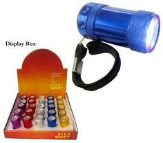 6 LED Mini Flashlight, 2 CR2032 Lithium Battery included www.BatteriesAndButter.com