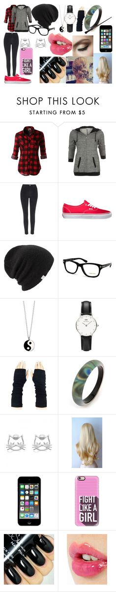 """""""Amelia 1"""" by squidfashion ❤ liked on Polyvore featuring LE3NO, Topshop, Vans, Coal, Tom Ford, Accessorize, Daniel Wellington, Alexis Bittar, Casetify and Charlotte Tilbury"""