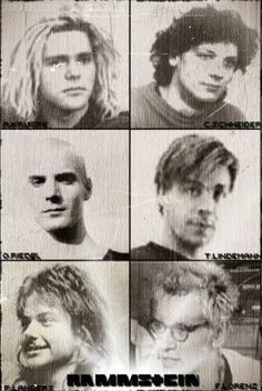 The guys in the days before Rammstein was born