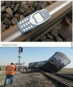 nokia 3310 vs train - Man Tutorial and Ideas
