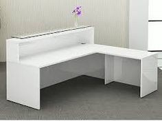 L-shaped reception desk