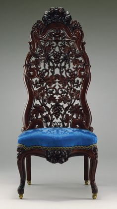 Slipper Chair-Slipper Chair Maker: John H. Belter (1804–1863) Date: ca. 1855 Geography: Made in New York, New York, United States Culture: American Medium: Rosewood, ash