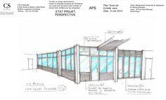 design extérieur réception clients