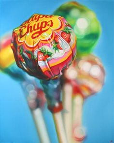 Lollipop Gang by Sarah Graham Sweets Art, Sarah Graham, Close Up Art, Gcse Art Sketchbook, Food Artists, Candy Art, Close Up Photography, Food Drawing, Drawing Tips