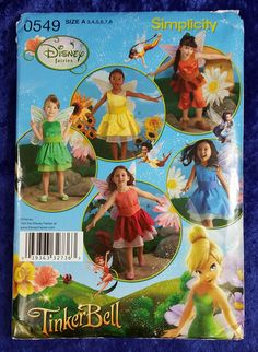 Disney Fairies TinkerBell Simplicity Girl's Size A Costume Pattern 0549 Uncut #Simplicity