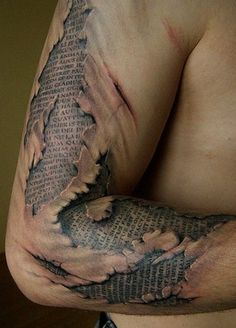 Pictures : Half Sleeve Tattoos for Men - Ripped Skin Tattoo Design