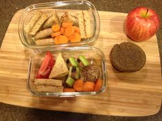 am snack/lunch/ pm snack almond butter sandwich sausage (locally made from Root Cellar) carrots, tomatoes, celery w/ almond butter and raisins apple coconut date ball (I keep a bunch in the freezer) low sugar, gluten free carrot muffin