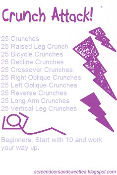 Crunches that get the job done!!!