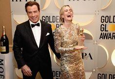 🏆 John Travolta e Sarah Paulson em um evento para The 74th Golden Globe Awards (2017) - /  🏆 John Travolta and Sarah Paulson at an event for The 74th Golden Globe Awards (2017) -