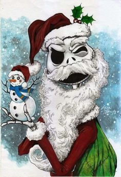 nightmare before christmas art Merry Christmas, Dark Christmas, Halloween Christmas, Disney Christmas, Halloween Town, Halloween Prop, Jack Skellington, Der Grinch, Nightmare Before Christmas Drawings