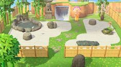 animal crossing island ideas Finally finished my Japanese rock garden. It took so long to create the path design! Qr Code Animal Crossing, Animals Crossing, Animal Crossing Guide, Animal Crossing Qr Codes Clothes, Japanese Rock Garden, Ac New Leaf, Motifs Animal, Path Design, Zen Garden Design