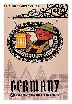Germany #vintage #travel #poster