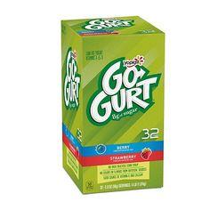 Yoplait Go-Gurt Low Fat Yogurt Variety Pack Strawberry and Berry Flavors ct. Healthy Yogurt, Low Fat Yogurt, Watermelon Varieties, Kids Yogurt, Team Snacks, Calcium Vitamins, On The Go Snacks, School Snacks, School Lunch
