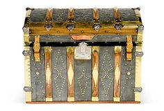 Ryland Dome-Top Steamer Trunk, C. 1860