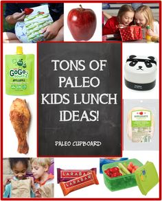 Tons of Paleo Kids Lunch Ideas! Also great for adults!