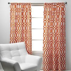 Curtains I bought for the nursery. LOOKING FOR ADVICE ABOUT HOW I CAN BACK THESE WITH BLACKOUT FABRIC. Pretty please? http://bit.ly/HrqNMH