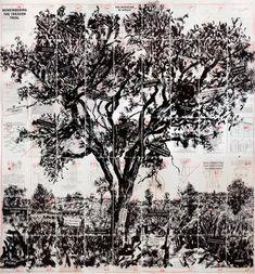 William Kentridge Remembering the Treason Trial, 2013 Lithograph: 63 panels hand…