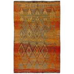 Vintage Moroccan Rug | From a unique collection of antique and modern moroccan and north african rugs at http://www.1stdibs.com/furniture/rugs-carpets/moroccan-rugs/