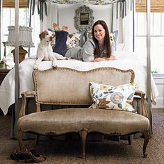 See how this magazine designer wakes up her Birmingham bedroom with a chic, low-budget makeover.