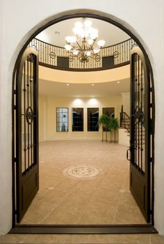 Custom Home Designs, Custom Home Builders, Custom Homes, Mediterranean Homes Exterior, Build Your Own House, Grand Entrance, Own Home, Curb Appeal, My Dream Home