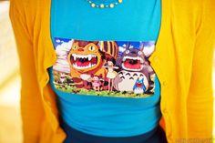 Blå t-skjorte - Totoro   http://mewkid.net/ #mewkid