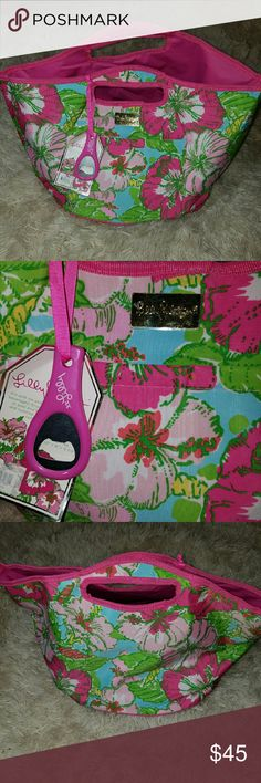 NWT Lilly Pulitzer Insulated Beverage Bucket Cool NWT Women's Lilly Pulitzer Insulated Beverage Bucket W/ Bottle Opener Floral Lilly Pulitzer Other
